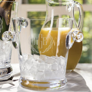 Engraved mouth blown ice bucket - perfect as a wedding gift