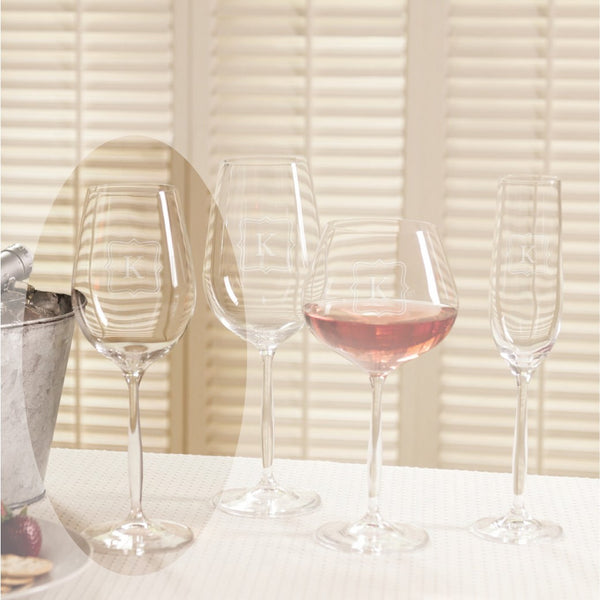 Bella 15.25 oz. Monogrammed White Wine set