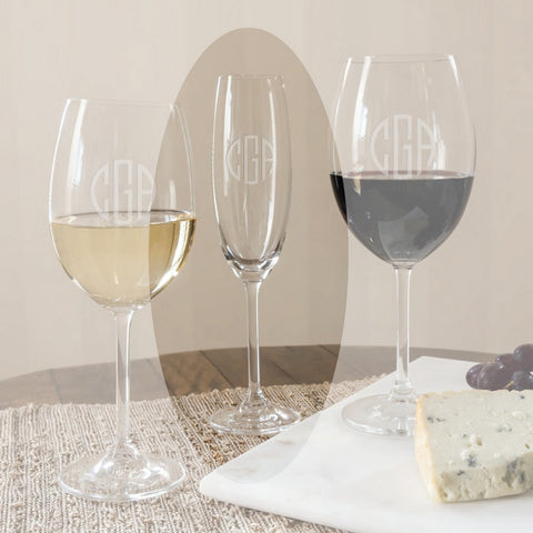 Options 7.5 oz  Monogrammed Wine Flutes sets