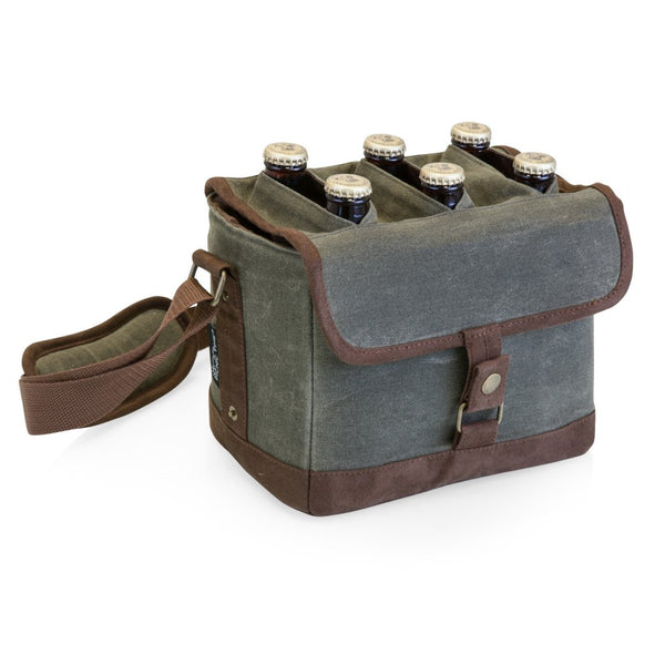 Beer Caddy with Removable Divider - Khaki/Brown