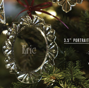 Optical Crystal Portrait Ornament - Portrait