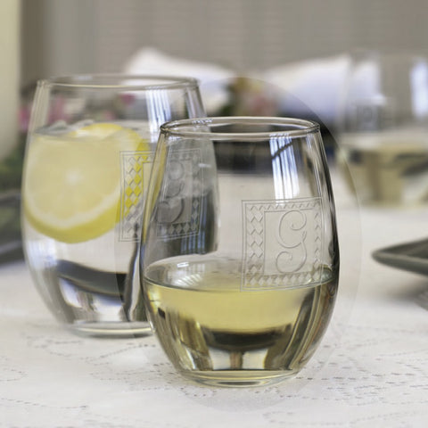 The Trendsetter engraved stemless wine glass