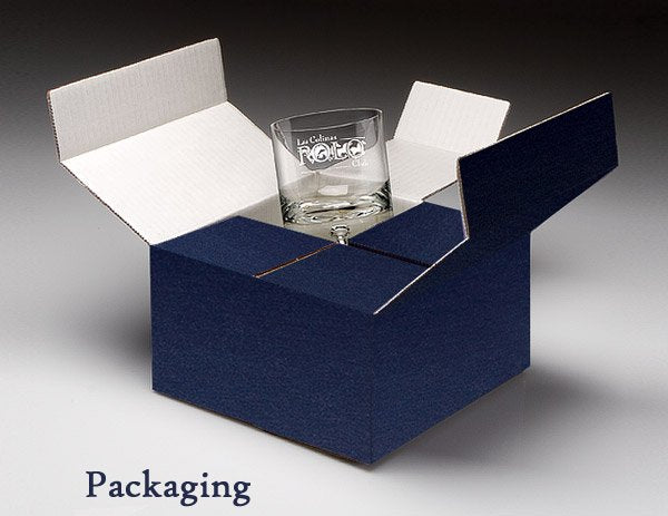 Packaging shown is a representation of the style of box. Blue corrugated box.