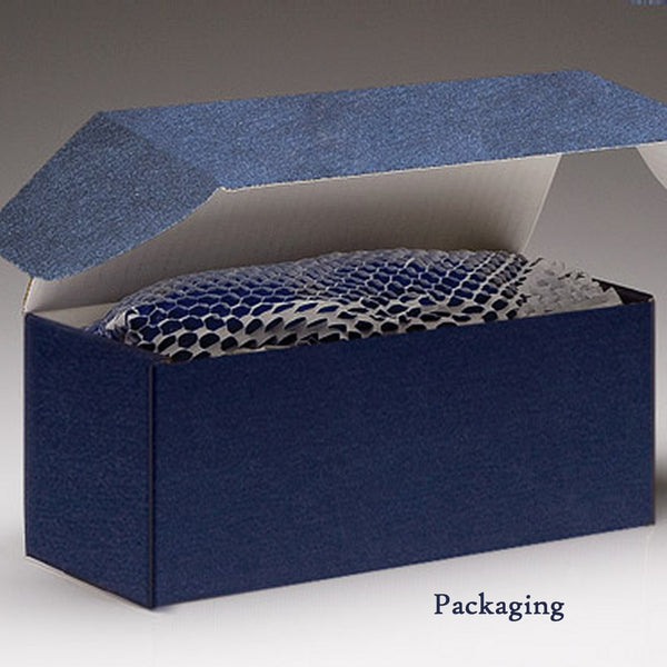 Engraved Wine Glass Packaging - Blue Box