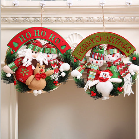 Santa Reindeer and 3 Snowman Christmas Decorations for Sizing