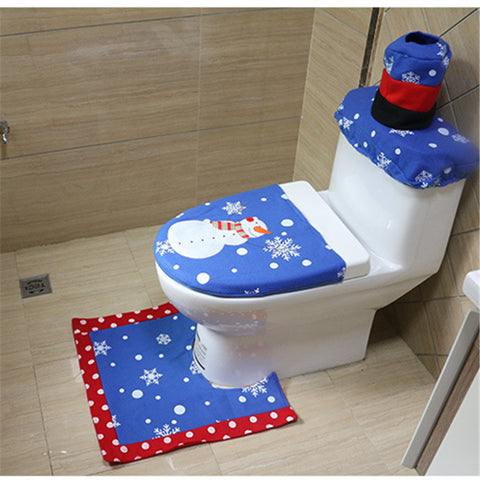 Christmas Snowman Bathroom 3 Piece Set