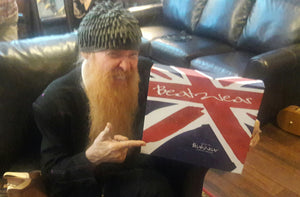 Billy F Gibbons drops in at Carnaby Street USA showroom.