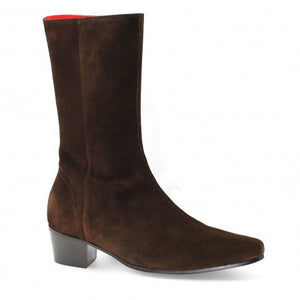 High Lennon Boot - Chocolate Suede