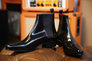 Low Cavern Boot - Black Hi Shine