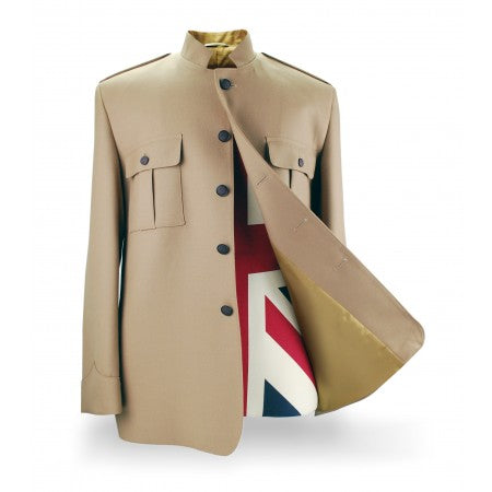 Shea Stadium Nehru Jacket in Tan