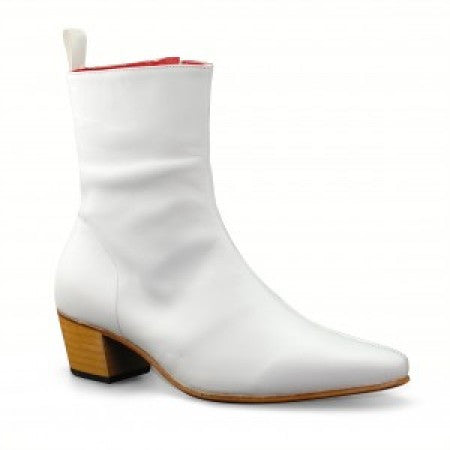 Zip Boot - White Calf Leather (Special)