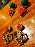 1980's Vintage Couture Christian Lacroix Dangle Earrings