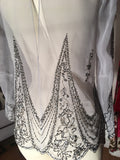 Vintage 1960's Hand Beaded Top