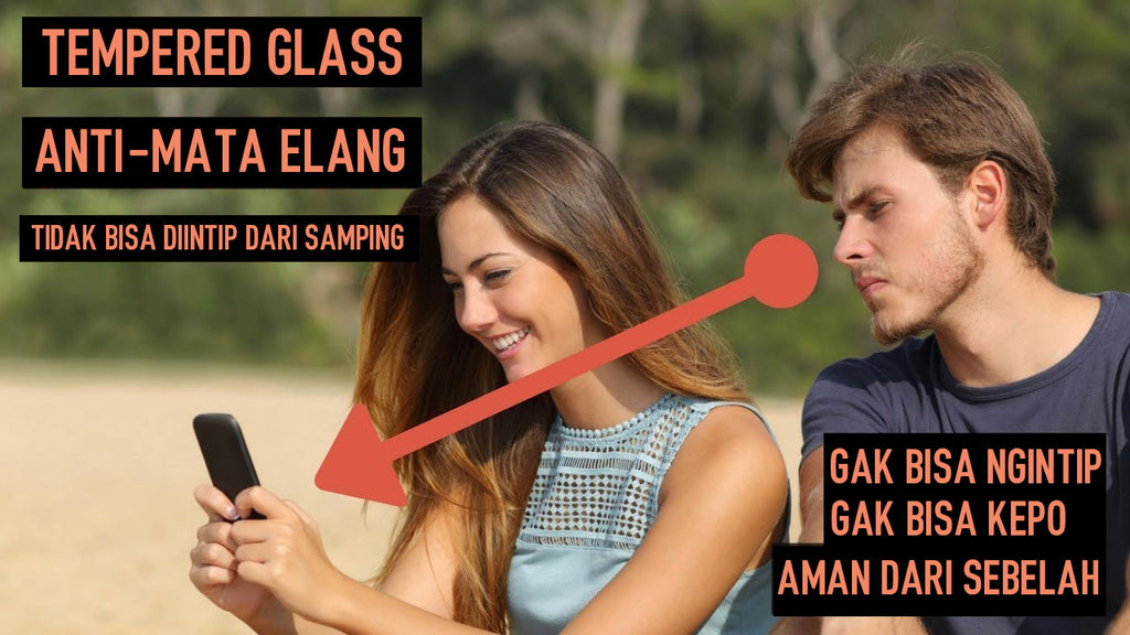 T-Glass Anti Intip / Mata Elang - Tempered Glass Black Doff
