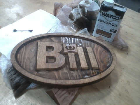 Finishing a wooden sign