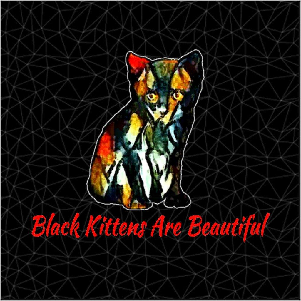 Cat Art Poster - Canvas Poster- Black Kittens Are Beautiful