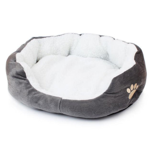 Cat Bed - Soft Cotton Grey