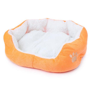 Cat Bed - Soft Cotton Orange