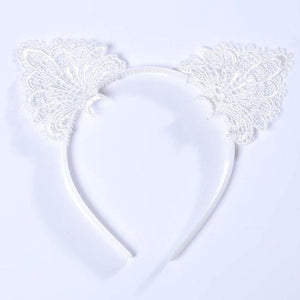Cat Headband - Lacy Cat Ears Headband