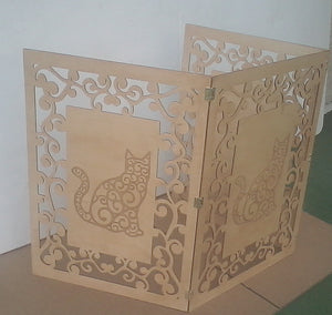 Cat Privacy Screen - Catitions Artistic Cat Privacy Screen
