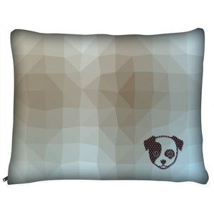 Dog Pillow Bed - Outdoor Dog Pillow Bed- Geometric II- Medium