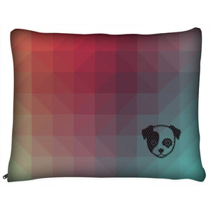 Dog Pillow - Outdoor Dog Pillow Bed-Geometric I- Medium