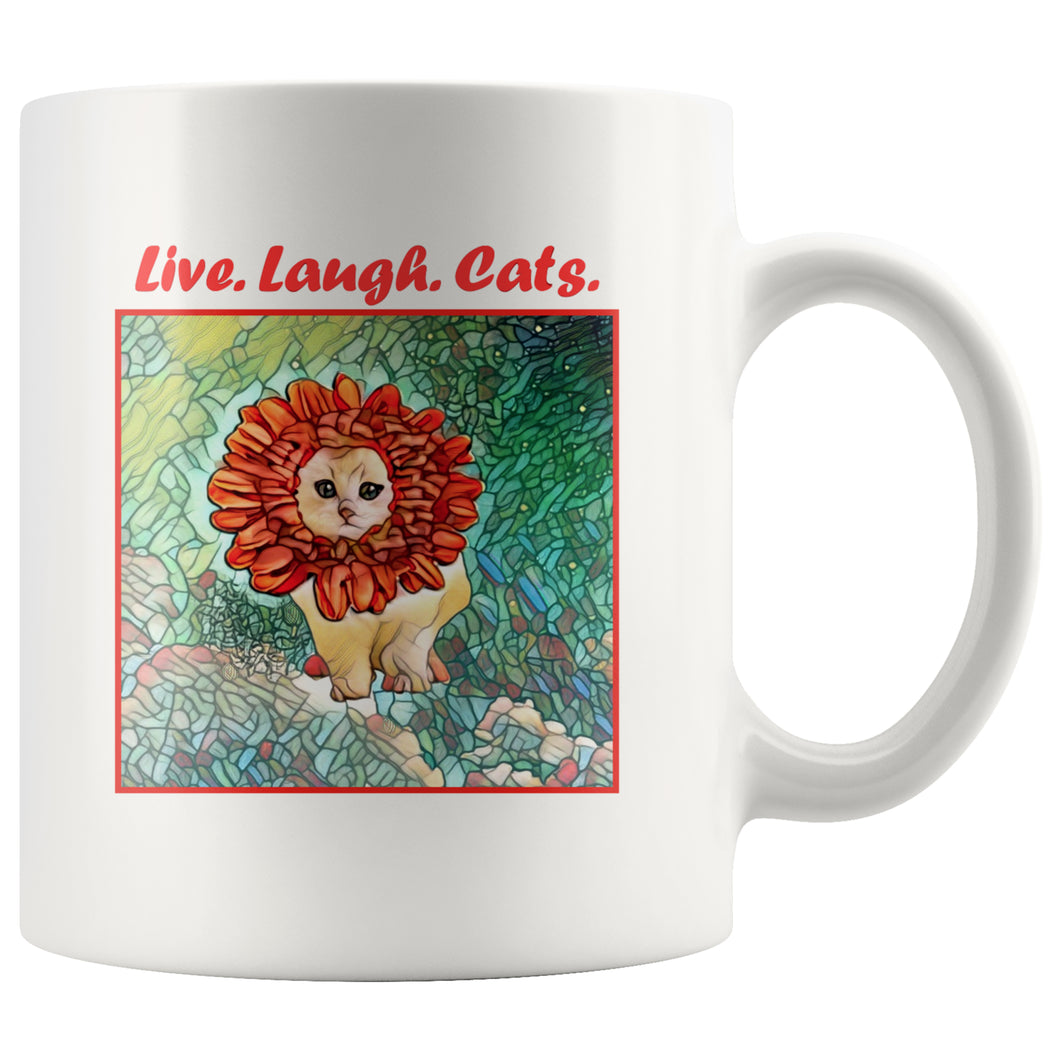 Drinkware - Live-Laugh-Cats-Coffee-Mug-Cat-Lover-Gift