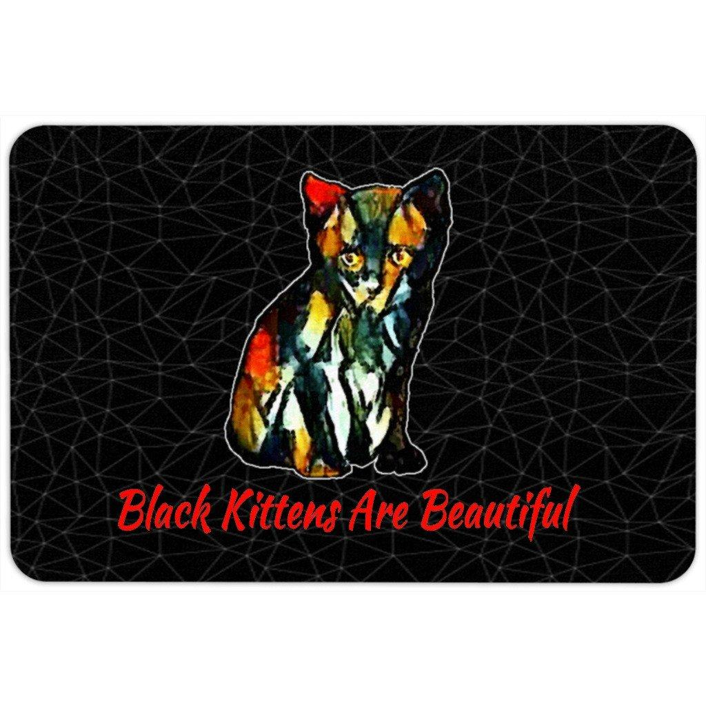 Floormat - Non Slip Floor Mat- Black Kittens Are Beautiful