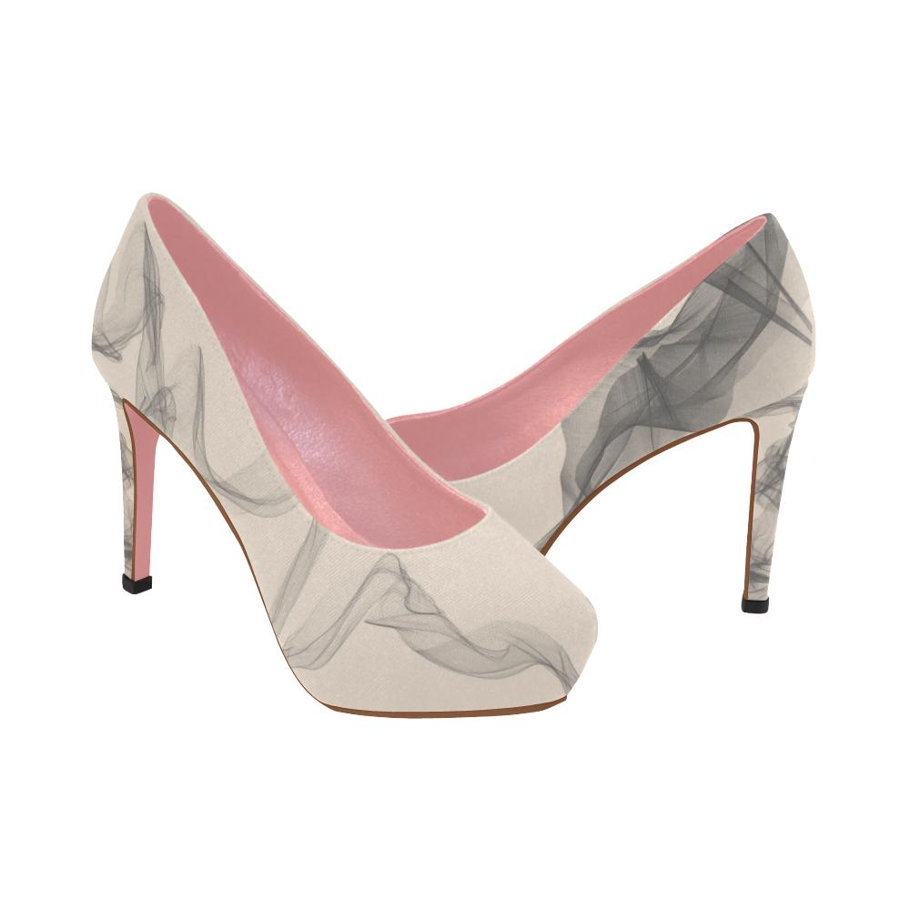 f01ed293d541 ... High Heels - Designer Edition Women s High Heel Pink Shoes With Cat And  Chiffon ...