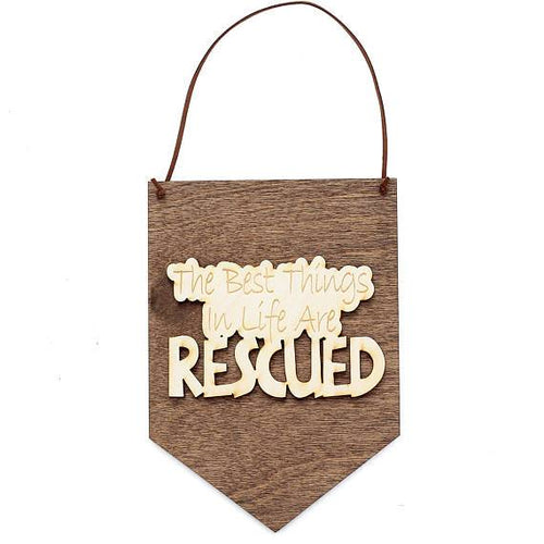 Home & Garden - Cat And Dog Themed Wood Sign Banner