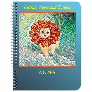 Notebook - Notebook-Flower Kitten Art Nouveau
