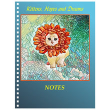 Notebook - Spiral Notebook -Flower Kitten Art Nouveau