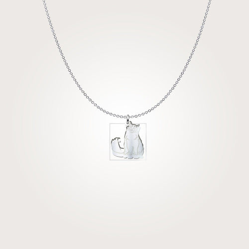 Pendant - Ragdoll Cat Sterling Silver Necklace