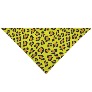 Pet Bandana - Mellow Yellow Leopard Cat Dog Bandana