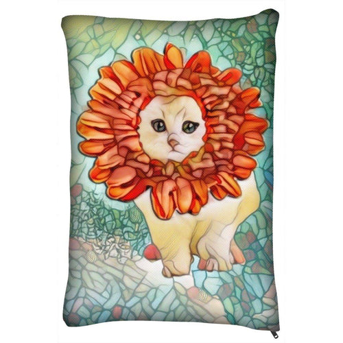 Pet Bed - Pet Bed Outdoor And Indoor-Flower Kitten Art Nouveau
