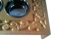 Pet Feeders - Volute- Artistic Cat Feeder-Small Dog Feeder-scrolls-engraving