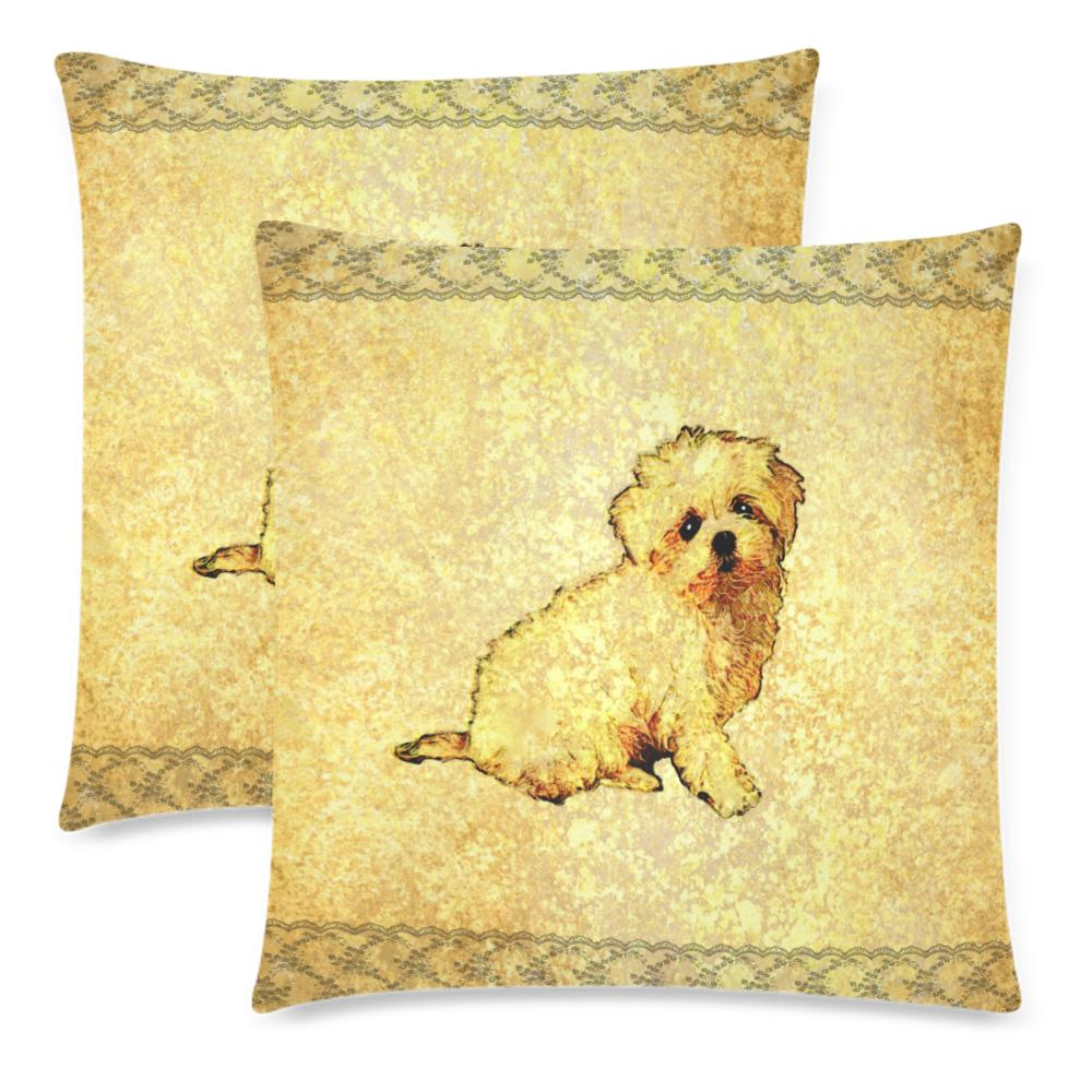 Pillow Cover - Pillow Cases Set 18 In- Maltese Puppy Dog