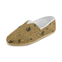 Shoe - Leopard Print Black Cat Canvas Shoes