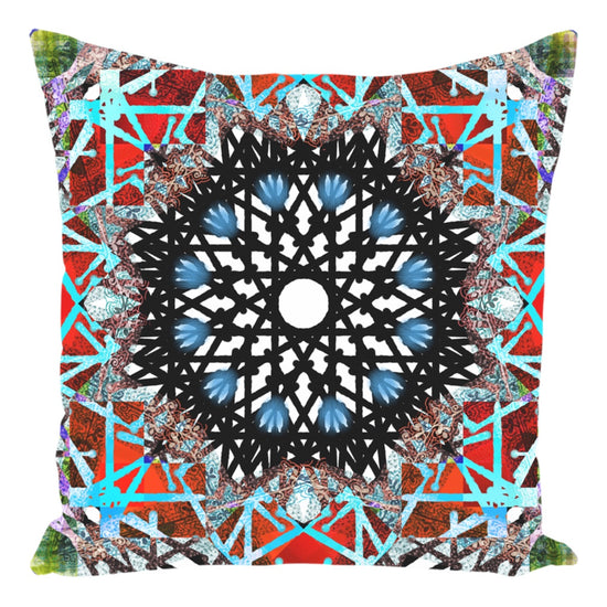 Boho Painted Mandala Throw Pillow Thumbs Pets