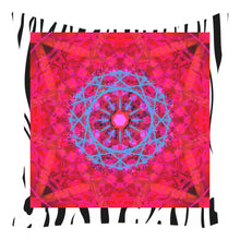 Throw Pillow Zippered - Tiger Print Mandala Throw Pillows