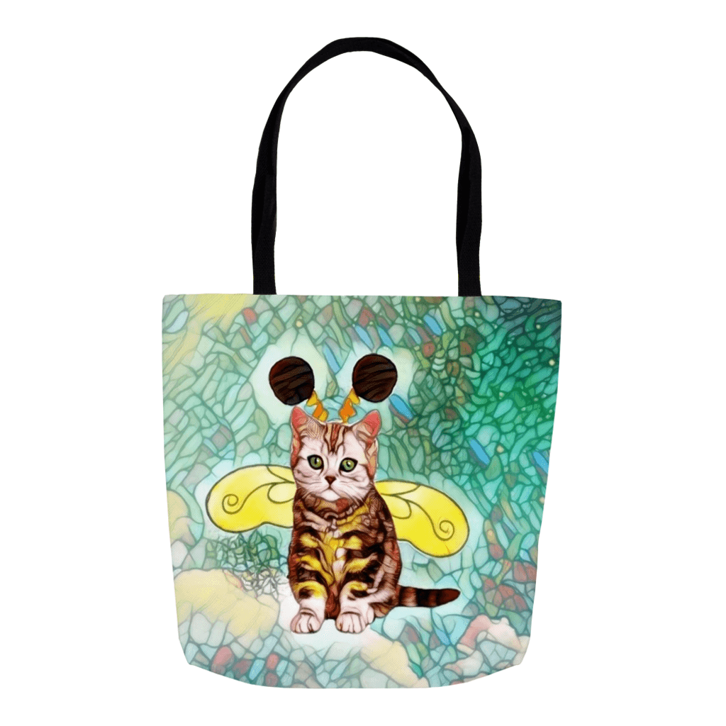 Tote Bag - Bee Kitten Art Nouveau Everything Tote Bag