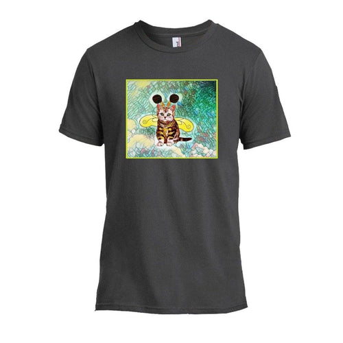 Tshirts - Bee Kitten Art Nouveau Design T-shirt -Smoke