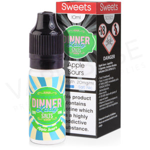 Apple Sours Salt Nicotine E-Liquid by Dinner Lady - Vapolino UK