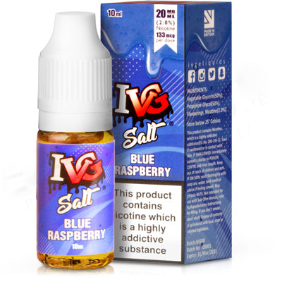 Blue Raspberry E-Liquid by IVG Salts - Vapolino UK