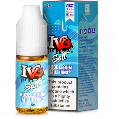 Bubblegum Millions E-Liquid by IVG Salts - Vapolino UK