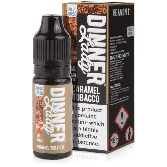 Caramel Tobacco E-Liquid by Dinner Lady 50/50 - Vapolino UK
