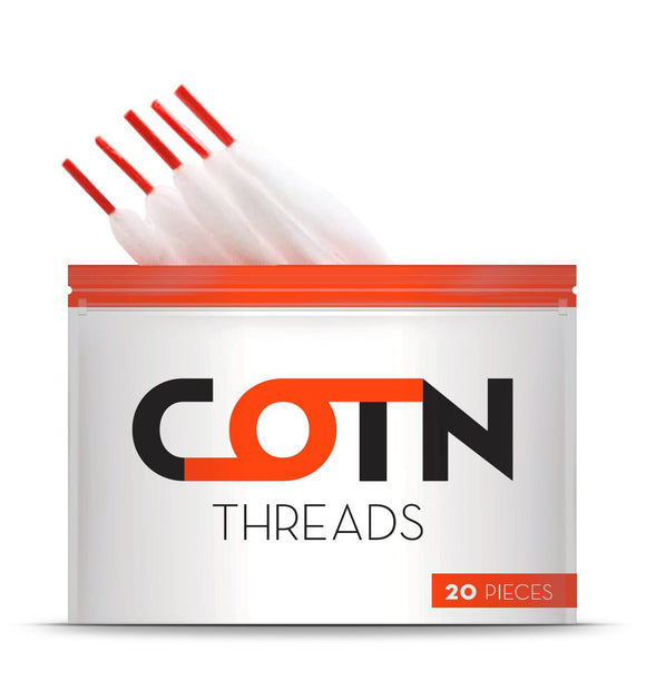 Pre-Cut Cotton Wicks Vaping Threads by Cotn - Vapolino UK