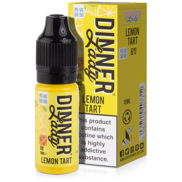 Lemon Tart E-Liquid by Dinner Lady 50/50 - Vapolino UK