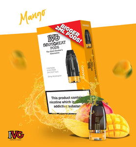 Mango Pod 20mg E-Liquid by IVG - Vapolino UK
