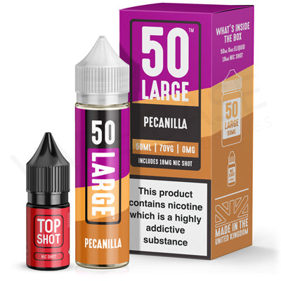 Pecanilla 50ml Shortfill E-Liquid by 50 Large - Vapolino UK